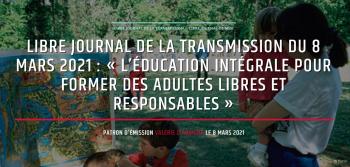 """Hervé Rolland, président de la Fondation pour l'école, était au micro de l'émission """"Le libre journal de la transmission"""" dirigée par Valérie d'Aubigny le 8 mars dernier."""